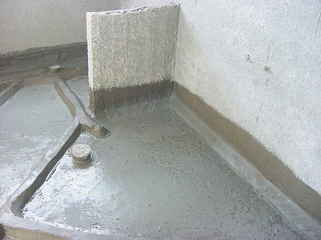 חומר איטום קירות, איטום רצפה